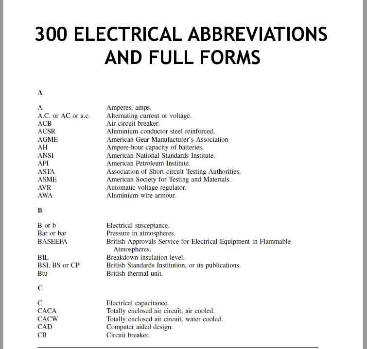 Diagram  Electrical Wiring Diagram Abbreviations Full