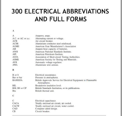 electrical abbreviations and full forms, electrical full forms, mcb full form, mccb full form, rccb full form, elcb full form, acb full form, rcbo full form, ups full form, dp full form