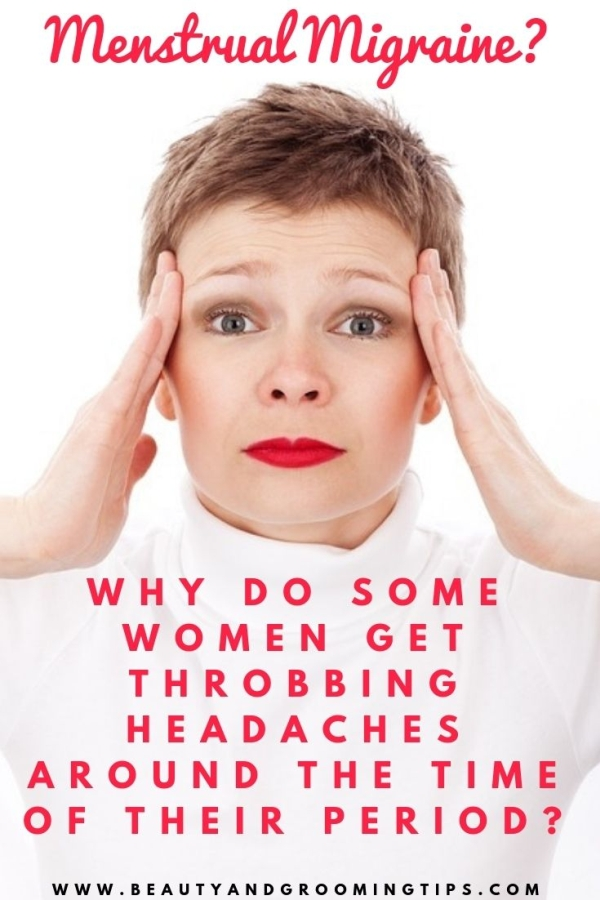 woman with menstural migraine