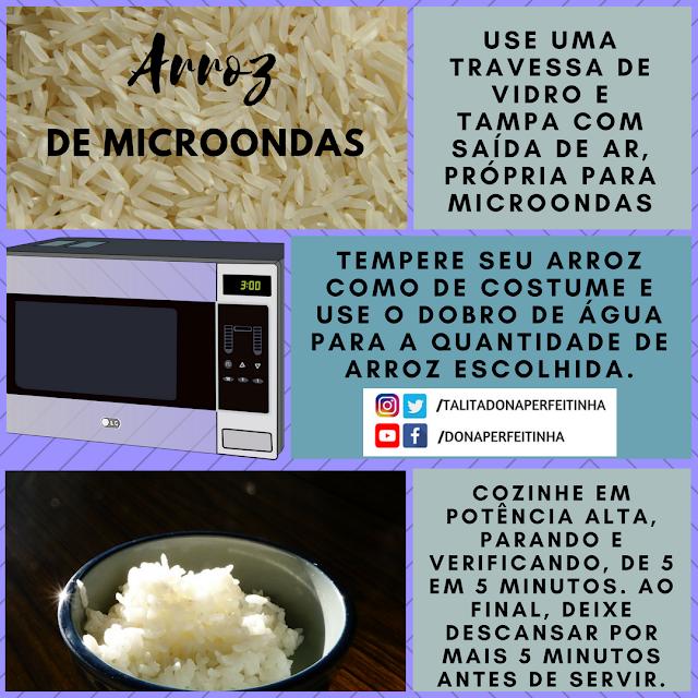 Como fazer arroz no microondas - economia de gás em tempos difíceis.