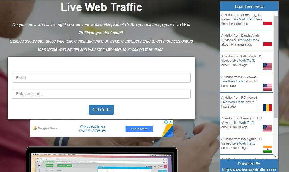widget live traffic feed alternative menyerupai feedjit