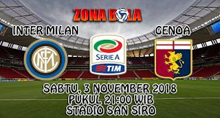 Prediksi Bola Inter Milan vs Genoa 3 November 2018