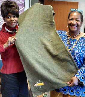 Did you know you could make a textile blanket from corn silk? Green Textile made from Corn Silk shown by Sonya Hodges & Teresa R. Kemp
