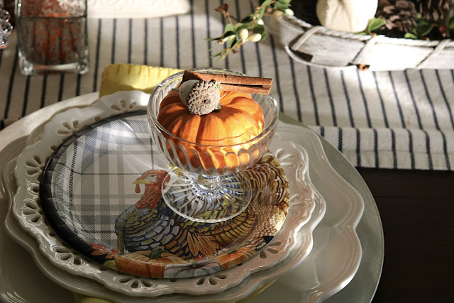 turkey, plate, blue, white, yellow, orange, athomewithjemma