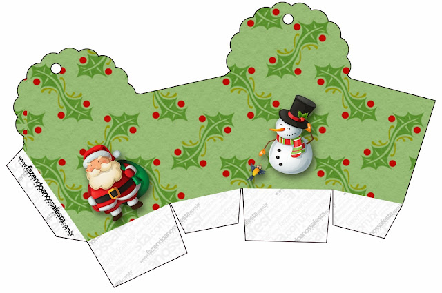 Snowman and Santa:Free Printable Boxes.