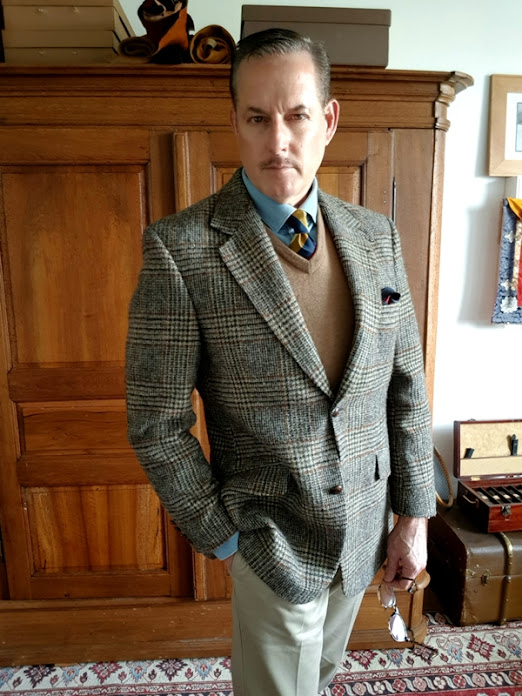 Harris Tweed by Barutti - Prince of Wales check