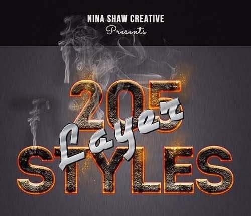 205 Photoshop Layer Styles Bundle 28370150
