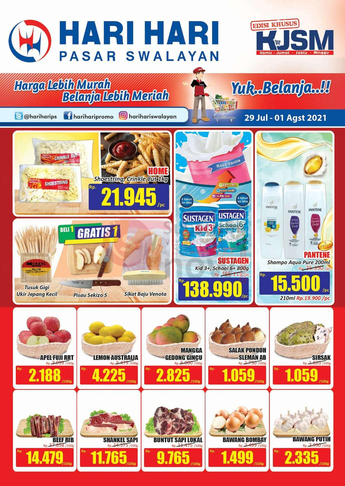 Katalog Promo JSM Hari Hari Swalayan Weekend 29 Juli - 1 Agustus 2021 1