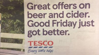 Tesco has apologised for any offence from a beer advertisement