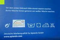 Reinigung: GOLD STERN Premium Spannbettlaken (185 GSM) bis 35 cm Matratzenhöhe (140x200 cm bis 160x200 cm, Schwarz)