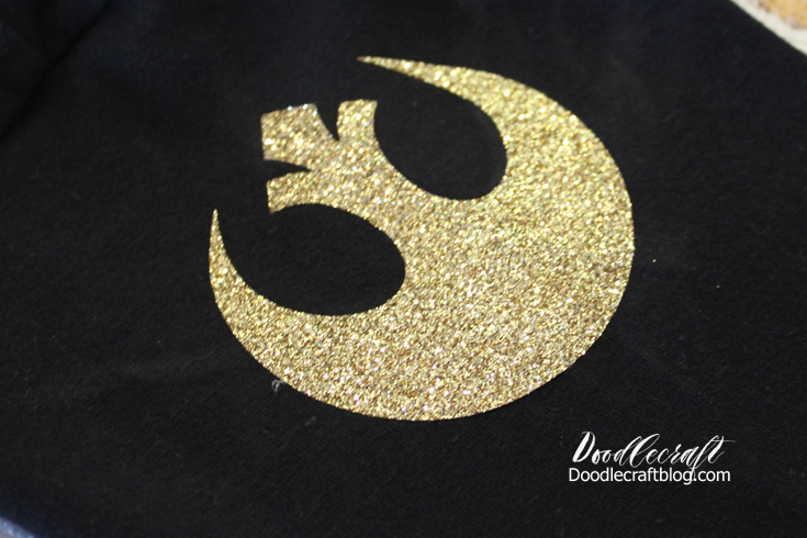 doodlecraft star wars gold leader glitter shirt