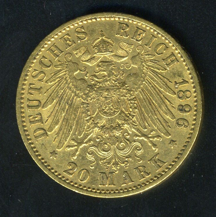 German 20 Mark Gold Coin Minted In 1887 World Banknotes