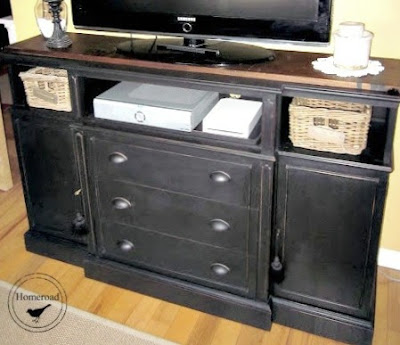 DIY tv hutch using diy chalky paint
