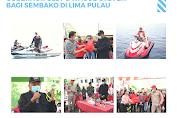 Dalam Lima Hari Gubernur Olly Bagi Sembako di Lima Pulau