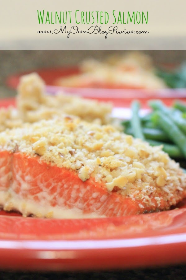Walnut Crusted Salmon. Eating this makes me feel like I'm at a 5-Star restaurant. It is so good! www.MyOwnBlogReview.com