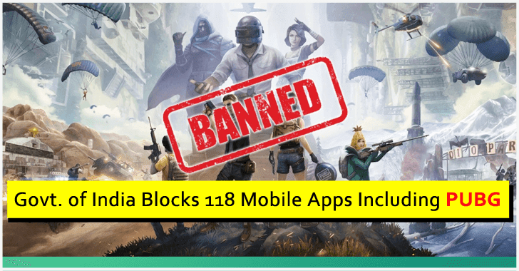 Digital Strike!! Government of India Banned 118 Mobile Apps Including PUBG
