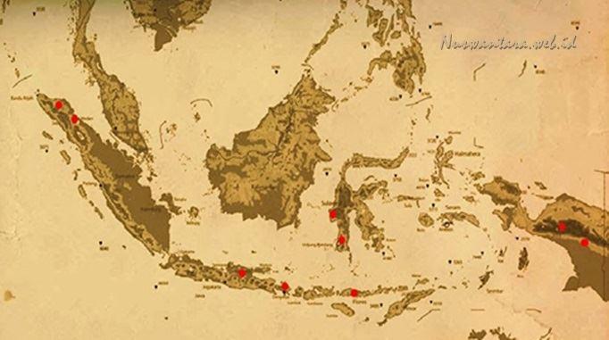 Peta wilayah Nusantara (Nuswantara) Indonesia