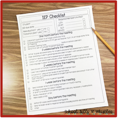 Use an IEP checklist to stay on top of the IEP process.