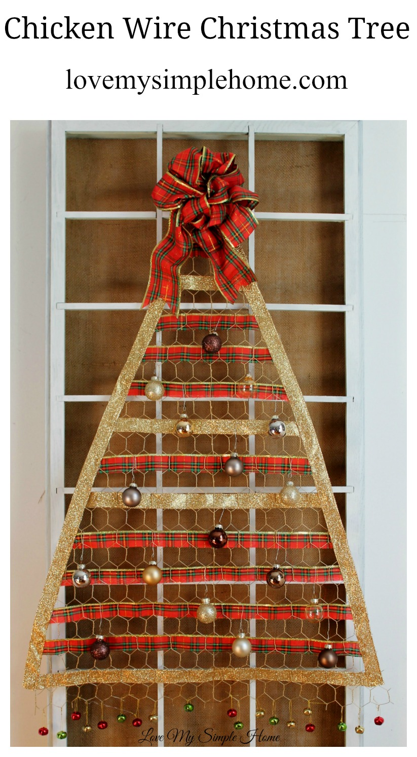 Chicken Wire Christmas Tree-a non-traditional solution for ...