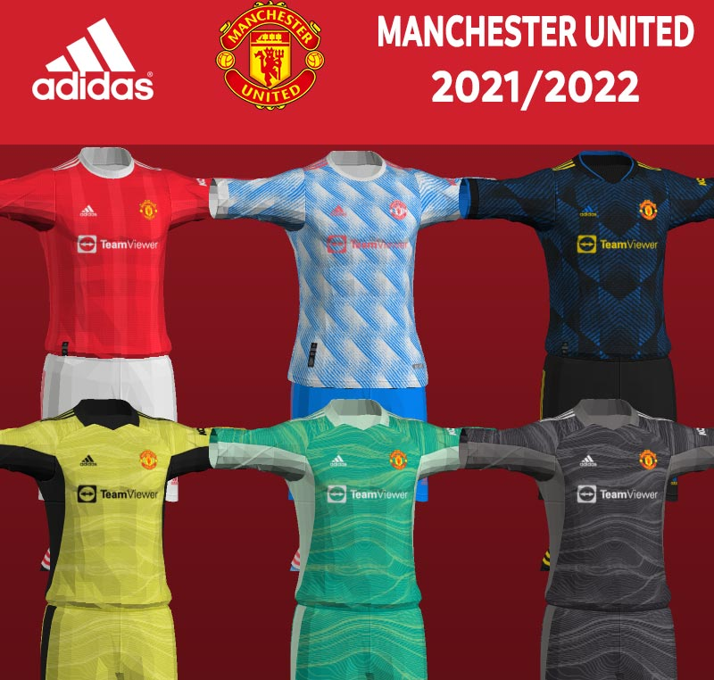 NEW Manchester United 2021-2022 Kits For PES 2013