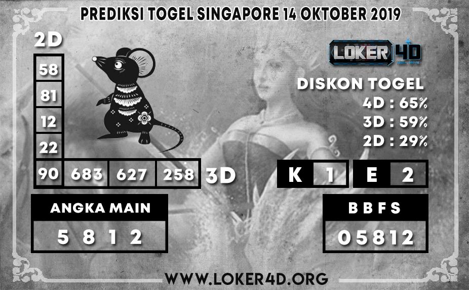 PREDIKSI TOGEL SINGAPORE LOKER4D 14 OKTOBER 2019