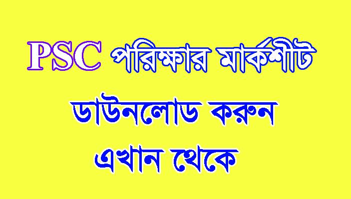 PSC Result 2019 Mark Sheet Download-www dpe gov bd