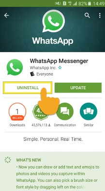 Uninstal WhatsApp Untuk Mengembalikan Foto WA Terhapus