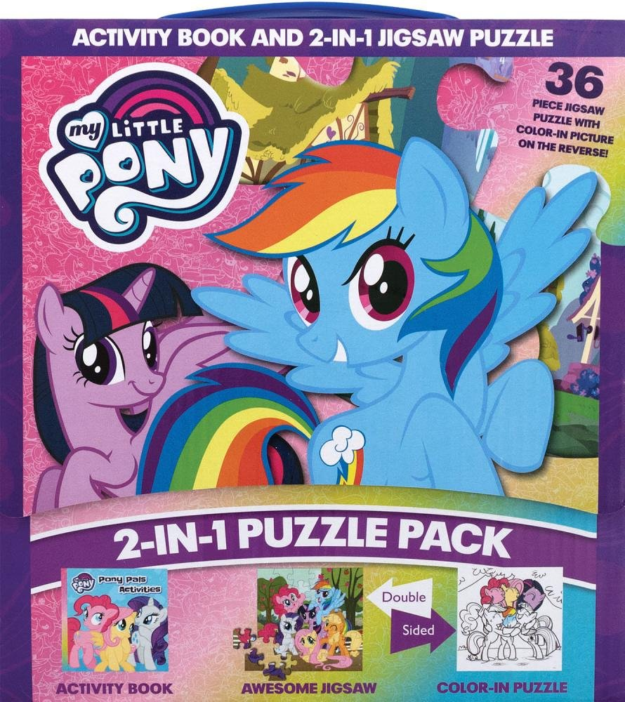 My Little Pony 2 In 1 Puzzle Pack Books