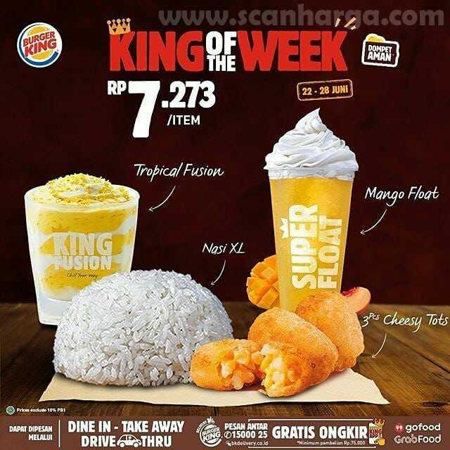 Burger King Promo King Of The Week Periode 22 - 28 Juni 2020 2