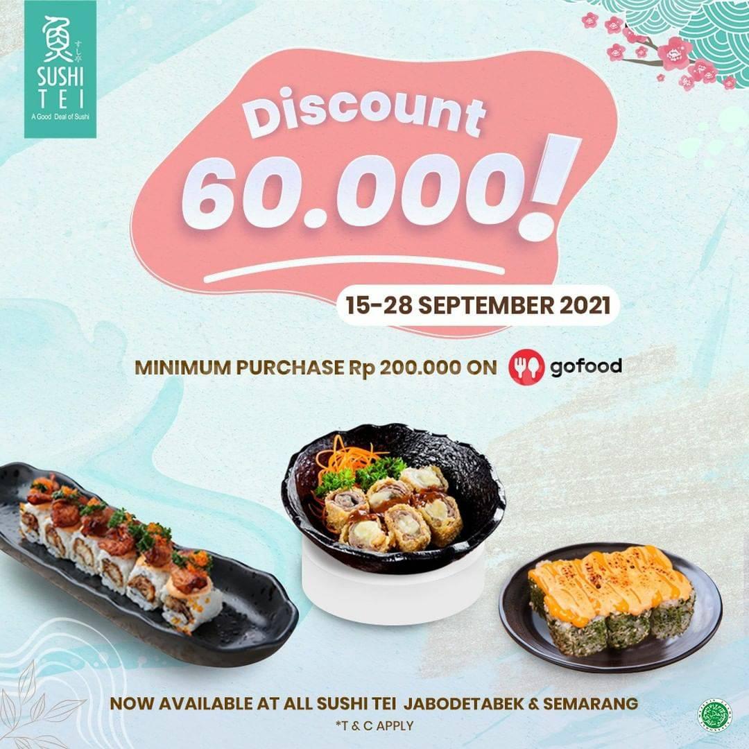 Promo SUSHI TEI DISKON Rp 60.000 via GOFOOD