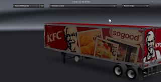 American Truck Simulator Full Trailers Pack KFC SOGOOD Mod Download MODs