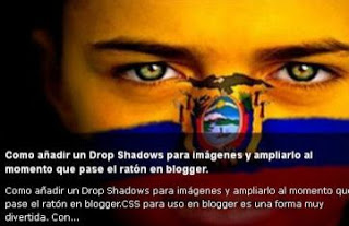 instalando automatic post slider blogger