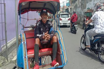 Memprihatinkan, Atlet Veteran Peraih Puluhan Medali di Semarang, Kini Jadi Tukang Becak