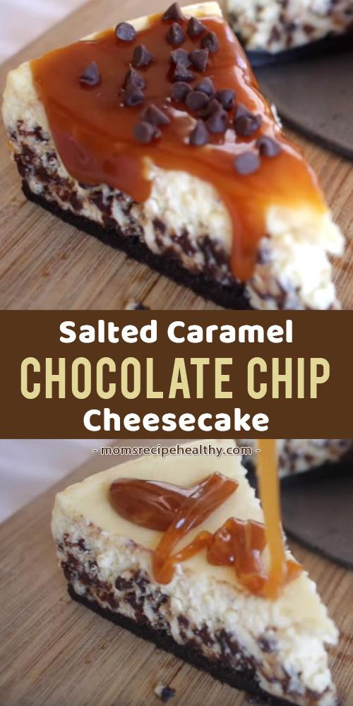 Salted Caramel Chocolate Chip Cheesecake [video]