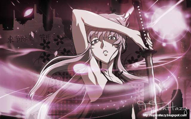 Yuno Gasai (Mirai Nikki) 10 yandere nổi tiếng trong anime