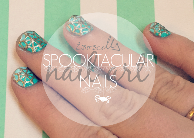Nail Art Spooktacular Spider Web Nails header