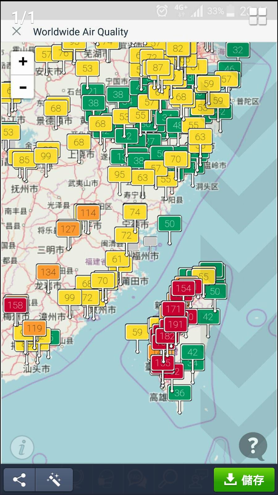 空污 霾害 雷達圖