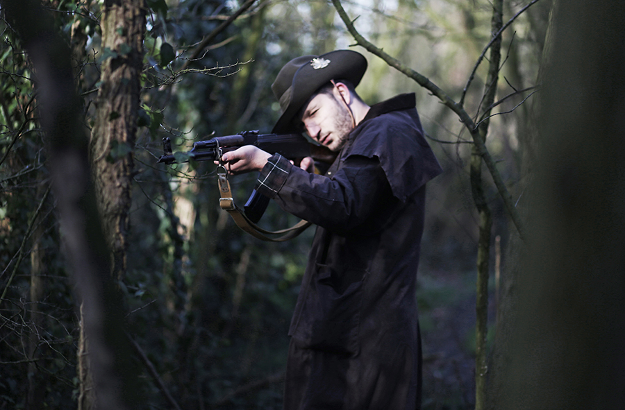 In the interest of feminism and gender equality, this Instagram Wife photographs her Instagram Husband in the scenic Grade II listed forest of Wanstead Park, London. All clothes by Regimental Vintage.