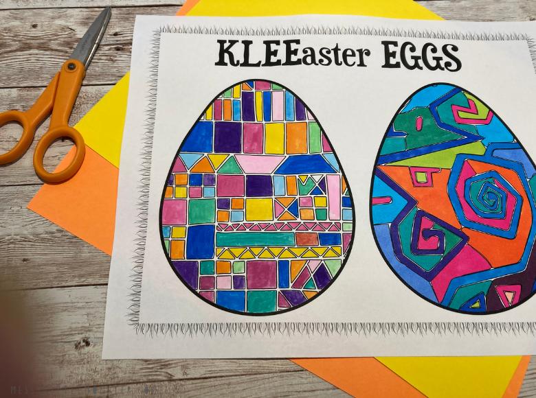 Easter egg pattern printable - Paul Klee for kids