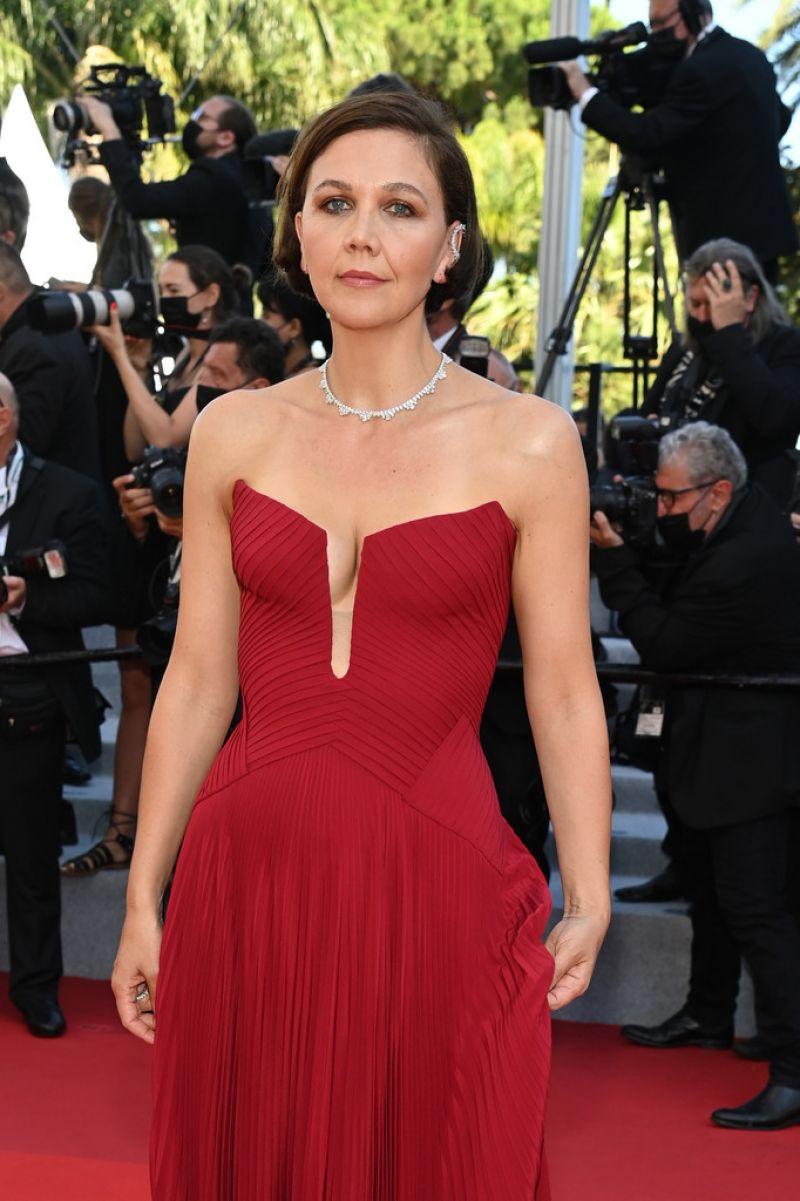 Maggie Gyllenhaal Clicks at Benedetta Screening at 2021 Cannes Film Festival 9 Jul-2021