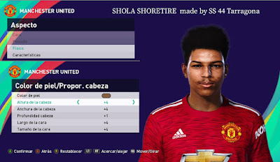 PES 2021 Faces Shola Shoretire by SS 44