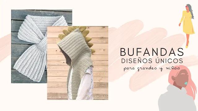 Bufandas Tejidas: Diseños únicos para grandes y niños