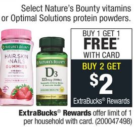 FREE Nature's Bounty Gummies CVS Deal 11/17-11/23