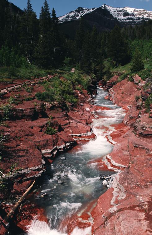 Red Rock Canyon Waterton Alberta