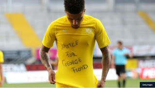 [SPORT] 'We Have To Fight For Justice' – Sancho Speaks After George Floyd Tribute