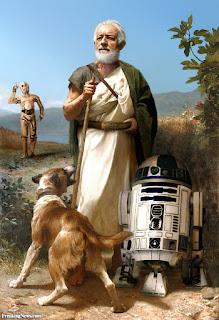 Obi Wan Kenobi and Droids