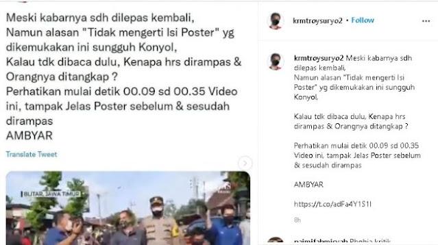 Soal Poster Peternak Dirampas Petugas, Roy Suryo Soroti Pernyataan Polisi: Sungguh Konyol
