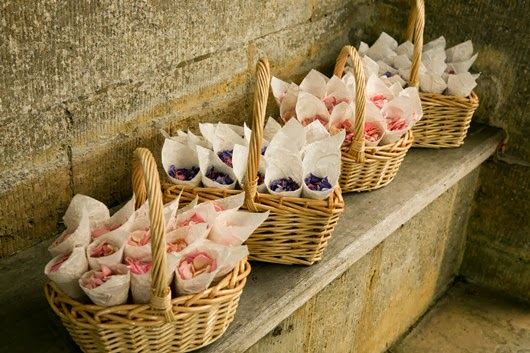 wedding flower girl ideas petals baskets