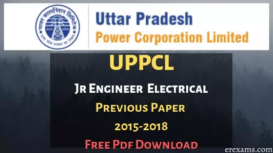 UPPCL JE Electrical Previous Year Question Papers Pdf Download