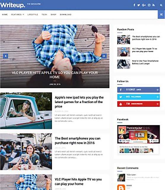 WriteUp Blogger Template
